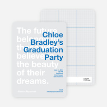 Graduation Quote - Celebrate Blue