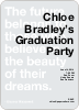 Graduation Quote Invitations - Black