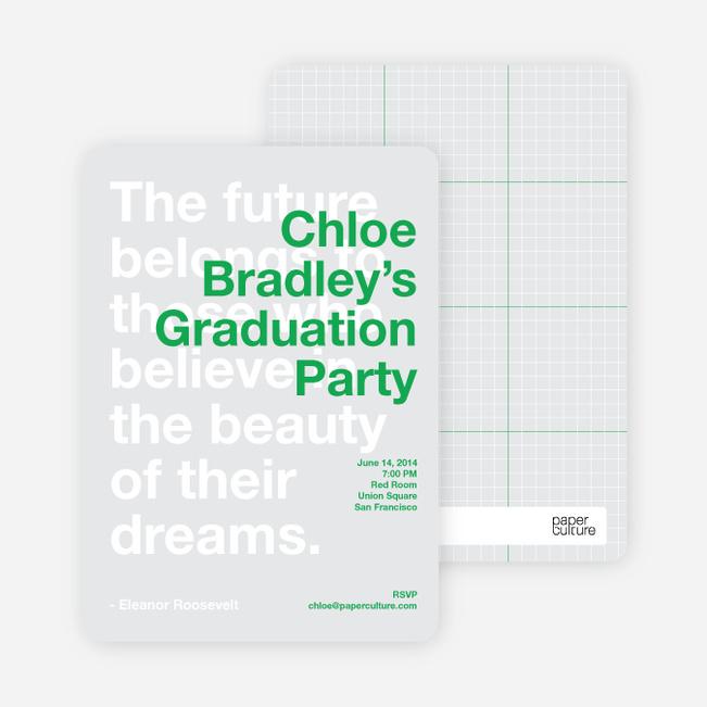 Graduation Quote Invitations - Palm