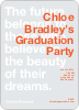 Graduation Quote Invitations - Orange Horizon