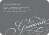 Graduation Script Invitations - Grad Gray