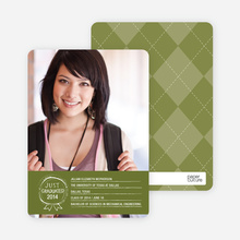 Graduation Sketch Invitations - Green Grad