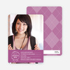 Graduation Sketch Invitations - Prestigious Purple