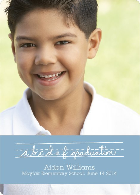 Graduations Alphabet Invitations - Blue Sail