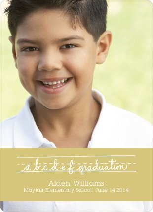 Graduations Alphabet Invitations - Cream Soda