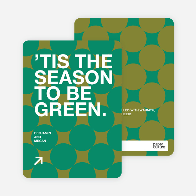 Eco Conscious Holiday Cards - Pine Green