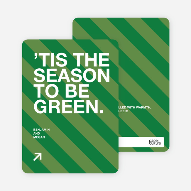 Eco Conscious Holiday Cards - Forest Green