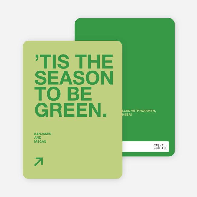 Green Holidays: Eco Conscious and Stylish - Celery