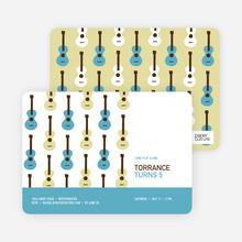 Guitar Hero Birthday Invitation - Lake Blue