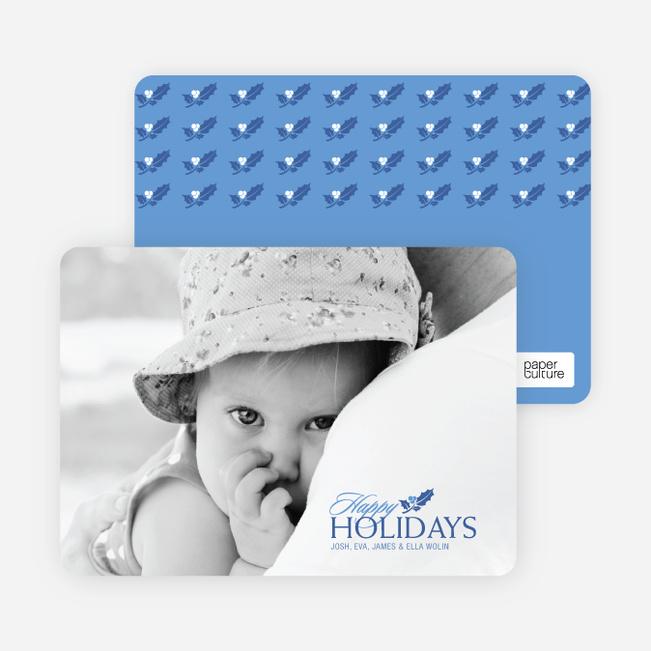 Happy Holidays Holly - Cobalt