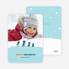 Happy Holidays Penguin Feet Cards - Burnt Orange