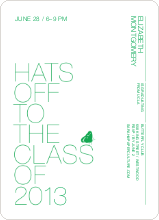 Hats Off to the Class of 2009 - Apple Green