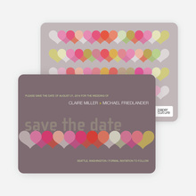 Heart Interplay Save the Date Cards - Plum
