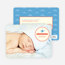 Helicopter Themed Birth Announcements - Red