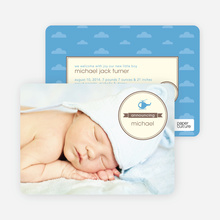 Helicopter Themed Birth Announcements - Brown