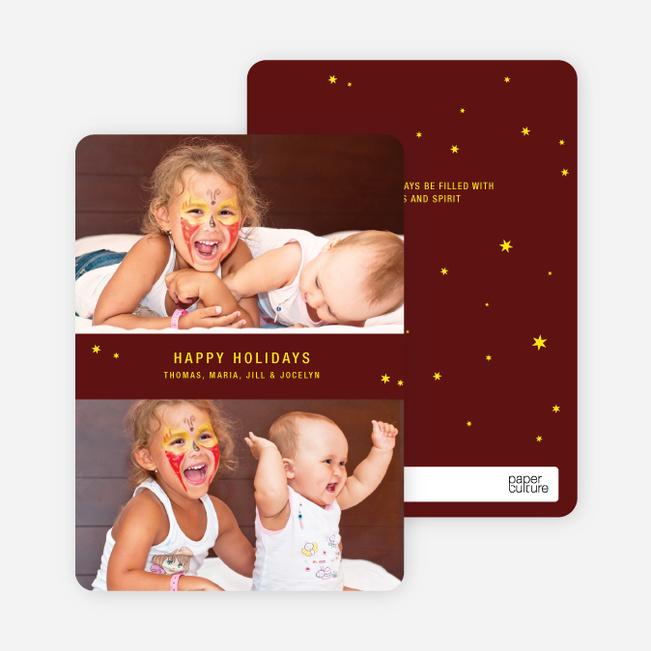 Holiday Angel: Happy Holidays Cards - Lemon Yellow