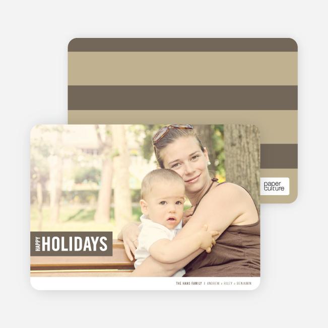 Holiday Band Holiday Photo Cards - Dune