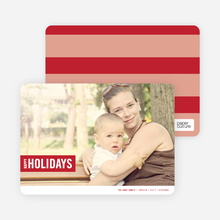 Holiday Band Holiday Photo Cards - Garnet