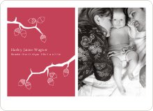Holiday Birth Announcements - Pomegranate