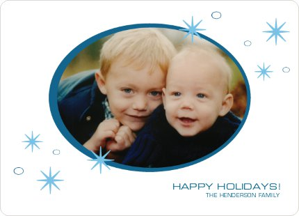 Holiday Photo Stars Holiday Cards - Cadet Blue
