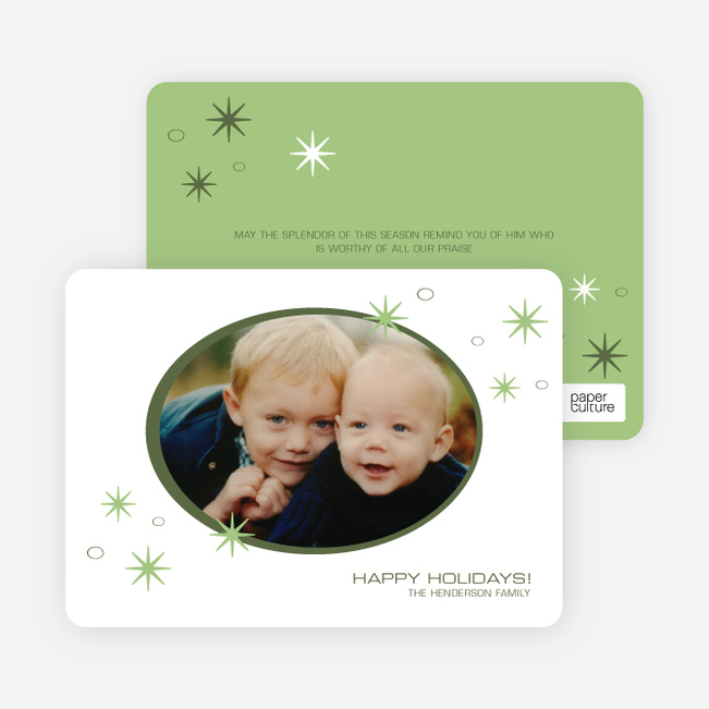Holiday Photo Stars Holiday Cards - Asparagus Green
