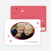 Holiday Photo Stars Holiday Cards - Brick Red