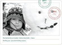 Holiday Stamp Photo Cards - Brick Red