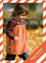 Holiday Stripes Holiday Photo Cards - Citrus Zing