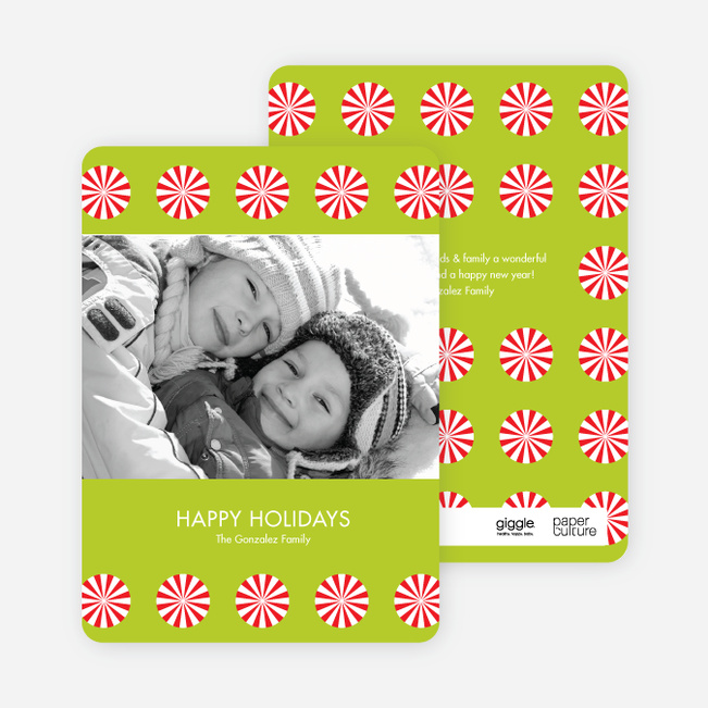 Holiday Photo Cards: Peppermint Sweets - Limeade