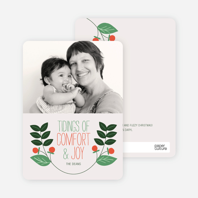 Holiday Cards: Holly Tidings - Forest Green