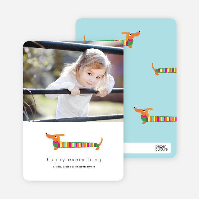 Hot Dog Henry Holiday Card - Kelly Green