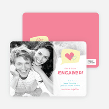 I Heart You Engagement Announcements - Punch