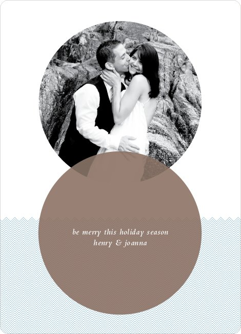 Interlocking Circles Holiday Photo Cards - Pebble