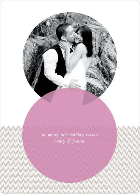 Interlocking Circles Holiday Photo Cards - Wisteria