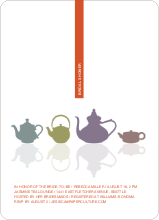 Invites for Bridal Shower Tea - Tangerine Orange