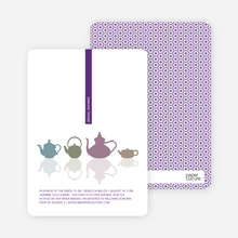 Invites for Bridal Shower Tea - Grape