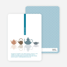 Invites for Bridal Shower Tea - Cadet Blue