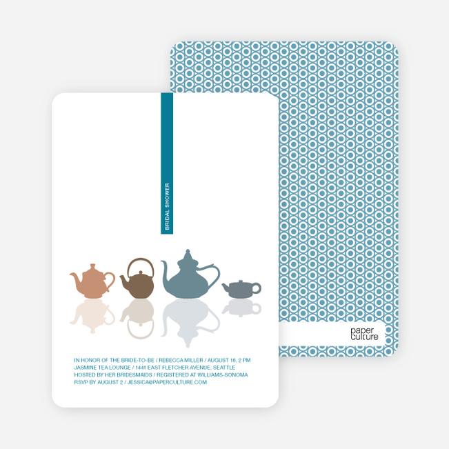 Invitations for Bridal Shower Tea - Cadet Blue