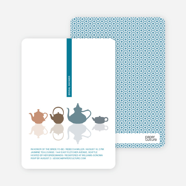 Invitations for Bridal Shower Tea - Cadet Blue