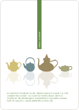 Invites for Bridal Shower Tea - Fern Green
