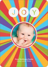 Joyful Outburst Holiday Photo Card - Peach