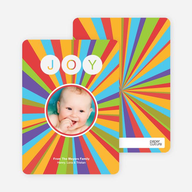 Joyful Outburst Holiday Photo Card - Peach