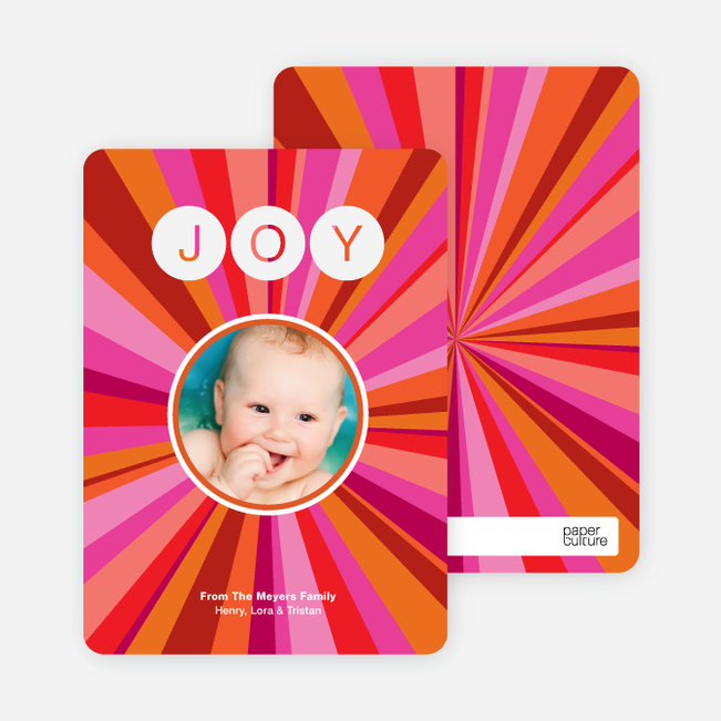 Joyful Outburst Holiday Photo Card - Hot Pink