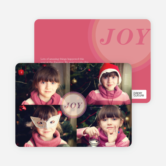 Holiday Cards: Joyous Circle - Red