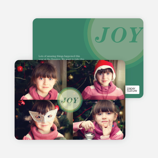 Holiday Cards: Joyous Circle - Green