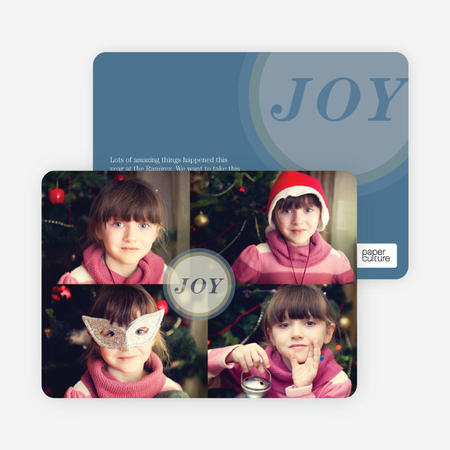 Holiday Cards: Joyous Circle - Blue