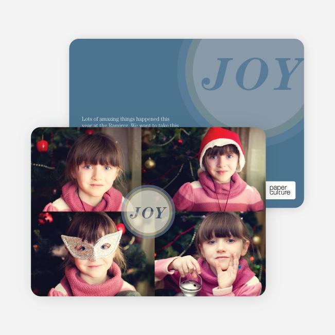 Joyous Circle 4 Photo Cards - Blue