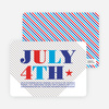 July 4th Party Invitations - Tomato Red