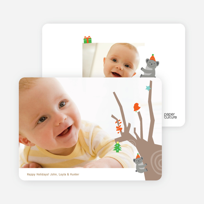 Koala Photo Cards for the Holidays - Sage Green