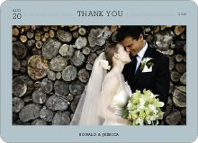 Wedding Photo Thank You Notes - Blue